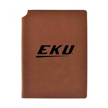 Eastern Kentucky University Velour Journal with Pen Holder|Carbon Etched|Officially Licensed Collegiate Journal|