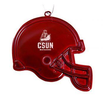 California State University, Northridge - Christmas Holiday Football Helmet Ornament - Red
