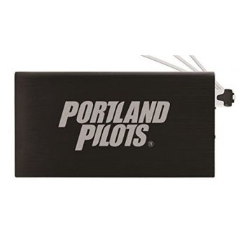 8000 mAh Portable Cell Phone Charger-The University of Portland-Black