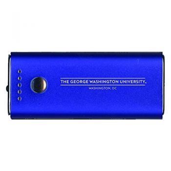 George Washington University -Portable Cell Phone 5200 mAh Power Bank Charger -Blue