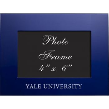 Yale University - 4x6 Brushed Metal Picture Frame - Blue