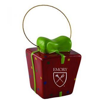Emory University-3D Ceramic Gift Box Ornament