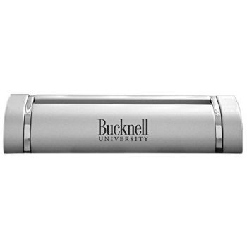 Bucknell University-Desk Business Card Holder -Silver