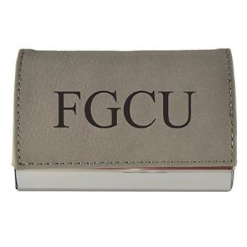 Velour Business Cardholder-Florida Gulf Coast University-Grey