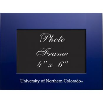 University of Northern Colorado - 4x6 Brushed Metal Picture Frame - Blue