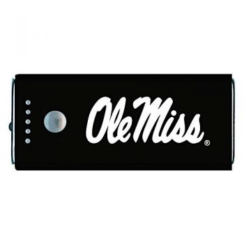 University of Mississippi -Portable Cell Phone 5200 mAh Power Bank Charger -Black