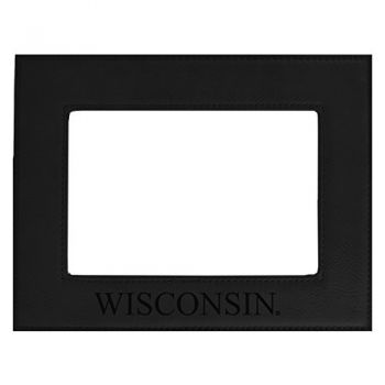 University of Wisconsin -Velour Picture Frame 4x6-Black