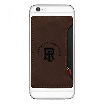 The University of Rhode Island -Cell Phone Card Holder-Brown