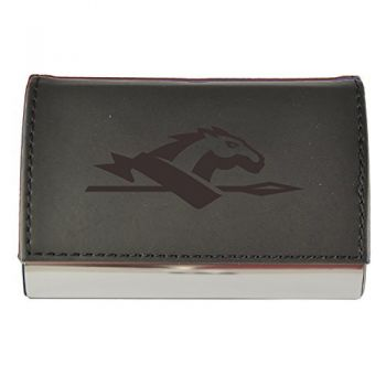 Velour Business Cardholder-Longwood University-Black