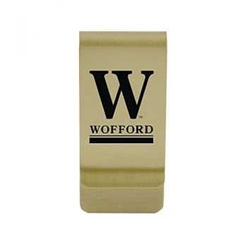 University of Wisconsin-Stout|Money Clip with Contemporary Metals Finish|Solid Brass|High Tension Clip to Securely Hold Cash, Cards and ID's|Silver