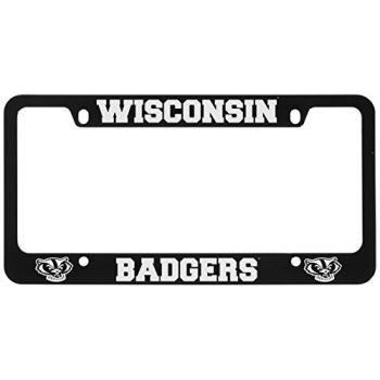 University of Wisconsin -Metal License Plate Frame-Black