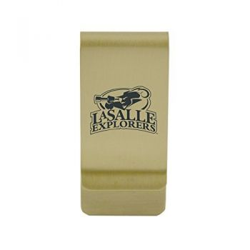 Lamar University|Money Clip with Contemporary Metals Finish|Solid Brass|High Tension Clip to Securely Hold Cash, Cards and ID's|Silver