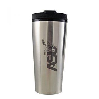 Alabama State University -16 oz. Travel Mug Tumbler-Silver