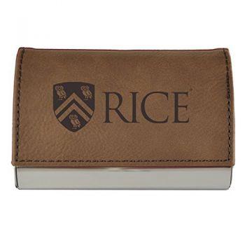 Velour Business Cardholder-Rice University-Brown
