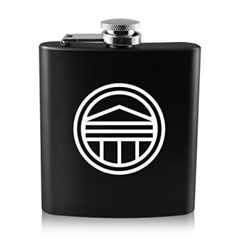 Longwood University-6 oz. Color Stainless Steel Flask-Black