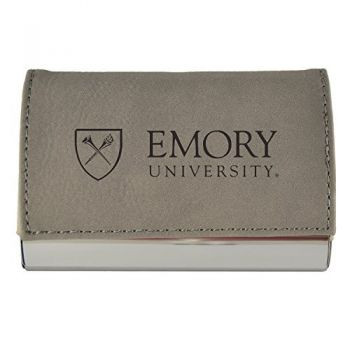 Velour Business Cardholder-Emory University-Grey