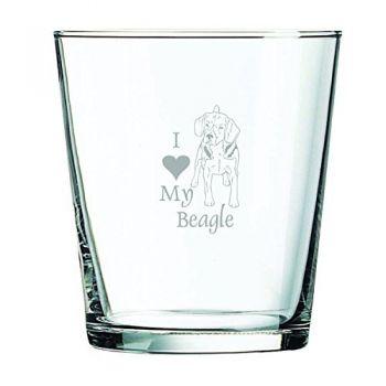 13 oz Cocktail Glass  - I Love My Beagle