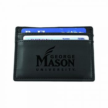 George Mason University-European Money Clip Wallet-Black