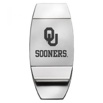 University of Oklahoma - Two-Toned Money Clip - Silver