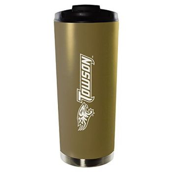 Towson University-16oz. Stainless Steel Vacuum Insulated Travel Mug Tumbler-Gold