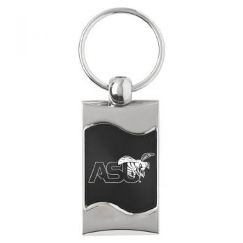 Alabama State University - Wave Key Tag - Black