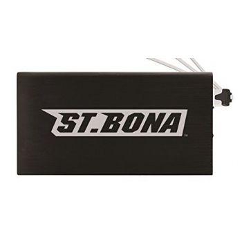 8000 mAh Portable Cell Phone Charger-St. Bonaventure Bonnies -Black