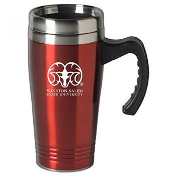Winston-Salem State University-16 oz. Stainless Steel Mug-Red