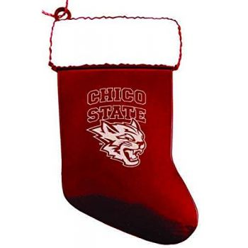 California State University, Chico - Christmas Holiday Stocking Ornament - Red