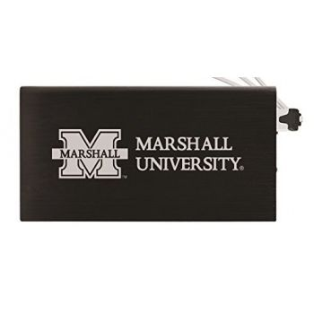 8000 mAh Portable Cell Phone Charger-Marshall University -Black