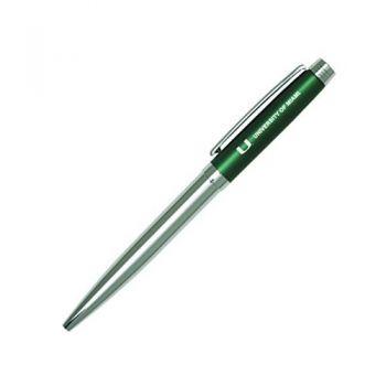 University of Miami-Sleek Avanti Ballpoint Pen -GRN