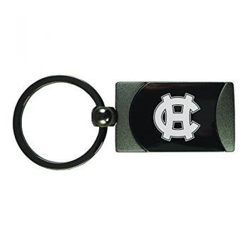 College of the Holy Cross-Two-Toned Gun Metal Key Tag-Gunmetal