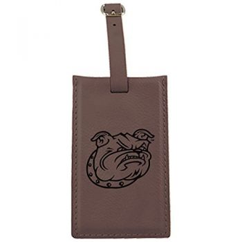 Bryant University -Leatherette Luggage Tag-Brown
