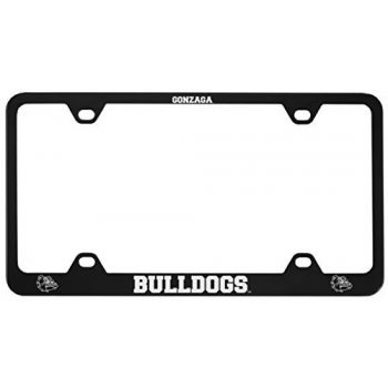 Gonzaga University -Metal License Plate Frame-Black