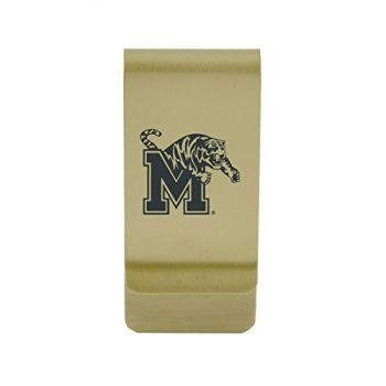 University of Maryland|Money Clip with Contemporary Metals Finish|Solid Brass|High Tension Clip to Securely Hold Cash, Cards and ID's|Silver