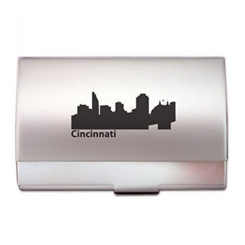 Business Card Holder Case - Cincinnati City Skyline