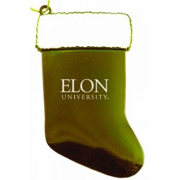 Elon University - Christmas Holiday Stocking Ornament - Gold