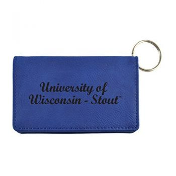 Velour ID Holder-University of Wisconsin-Stout-Blue