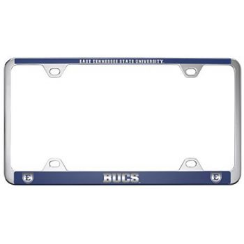 East Tennessee State University -Metal License Plate Frame-Blue