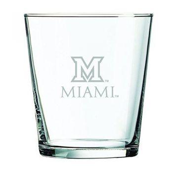 Miami University -13 oz. Rocks Glass