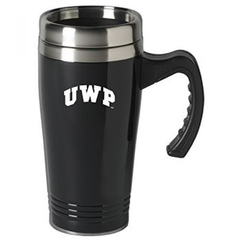 University of Wisconsin-Platteville-16 oz. Stainless Steel Mug-Black