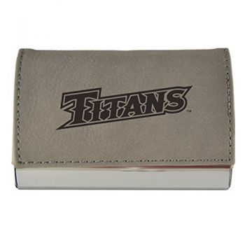 Velour Business Cardholder-California State University Fullerton-Grey