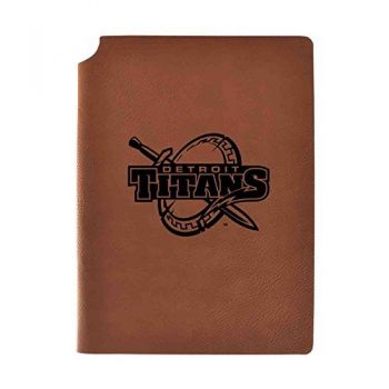 University of Detroit Mercy Velour Journal with Pen Holder|Carbon Etched|Officially Licensed Collegiate Journal|
