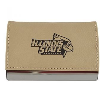 Velour Business Cardholder-Illinois State University-Tan