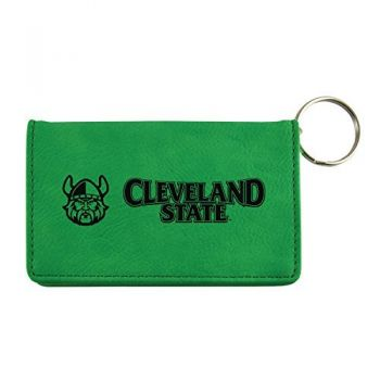 Velour ID Holder-Cleveland State University-Green