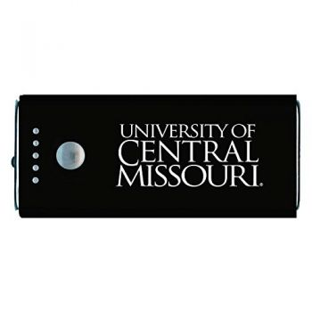 University of Central Missouri -Portable Cell Phone 5200 mAh Power Bank Charger -Black
