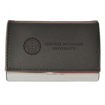 Velour Business Cardholder-Central Michigan University-Black