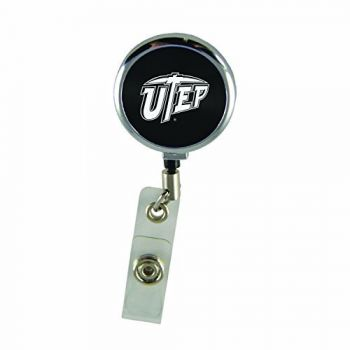 The University of Texas at El Paso-Retractable Badge Reel-Black