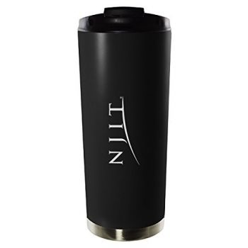 New Jersey Institute of Technology-16oz. Stainless Steel Vacuum Insulated Travel Mug Tumbler-Black