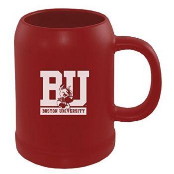 Boston University -22 oz. Ceramic Stein Coffee Mug-Red