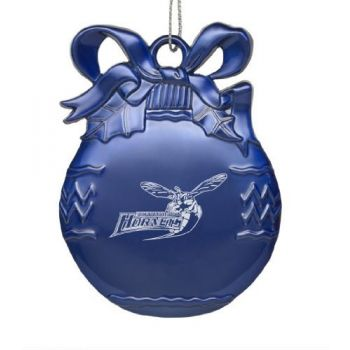 Delaware State University - Pewter Christmas Tree Ornament - Blue